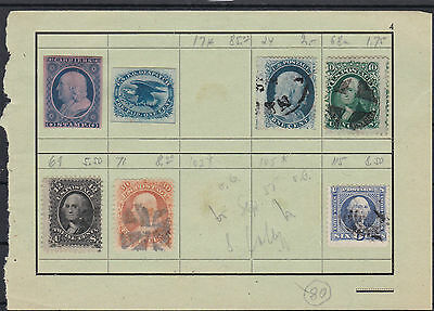 Early American Stamps On Album Page , Including  Carrier Stamps, Ref 447