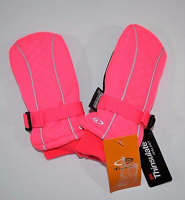 NWT Champion Venture Dry Thinsulate Girl's Snow Ski Mittens Waterproof Pink