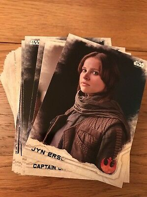 Star Wars Rogue One Series 1 Base Set 90 Cards + Empty Wrappers