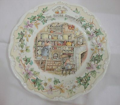 "Royal Doulton Brambly Hedge ""The Store Stump"" 1st Quality 8"" Plate 1984"