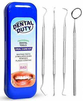 Dental Hygiene Kit For Home Use - Calculus and Plaque Remover Set - Stainless -