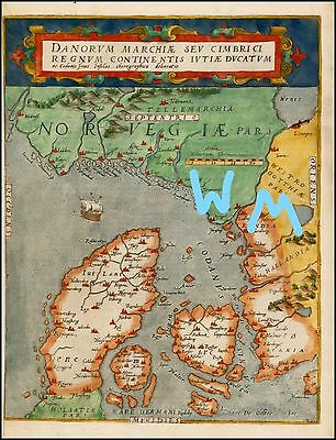1593 Map of Norway and Denmark Print