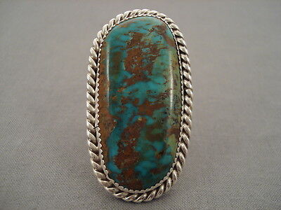 Huge Vintage Navajo Royston Turquoise Silver Ring