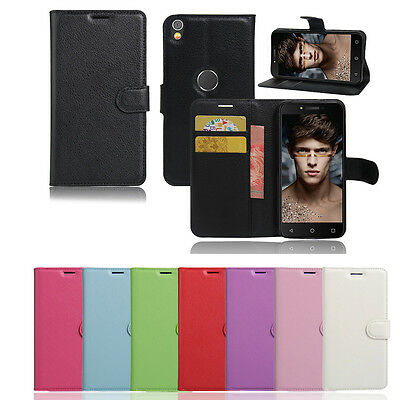 New Wallet Leather Case Cover For Optus X Sleek + Screen Protector