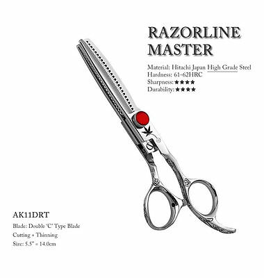 5.5 Inch Professional Double Blade Hairdressing Scissors - Japan Hitachi Steel