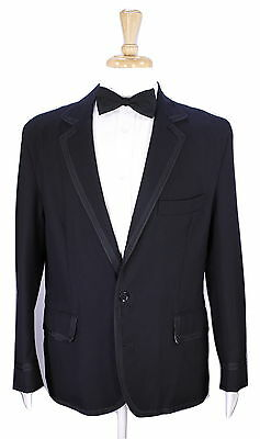 * OLIVER SPENCER * England Black Wool 2-Btn Tuxedo Dinner Jacket Blazer 42S