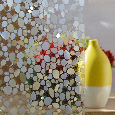 Modern Waterproof Art Window Self Adhesive Film Pebble Frosted Glass Sticker New