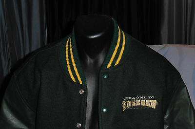 """Welcome to Buzzsaw"" ""Out on a Limb"" Varsity Style Jacket Movie Film Crew(L)"