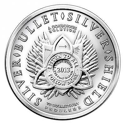 2 oz 2014 999 silver Trivium SBSS Silver Bullet silver shield coin round New Yr