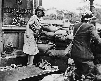 """French Citizens Fight before Liberation of Paris 8""""x 10"""" World War II Photo #131"""