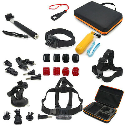 Accessories Kit Monopod Head Chest Strap Mount Bag For Gopro Hero 1 2 3 3+ 4 5