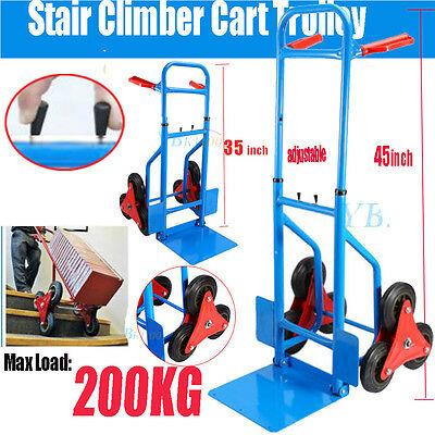 Heavy Duty Hand Truck For Moving Refrigerator Stair Trolley Climber (200kg)