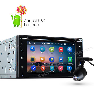 Dashcam 2 DIN Android 5.1 Car Stereo DVD Player GPS Sat Nav DAB+ Radio USB SD W
