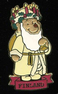 DS Winnie the Pooh Santas Claus Around the World Finland Disney Pin 16593