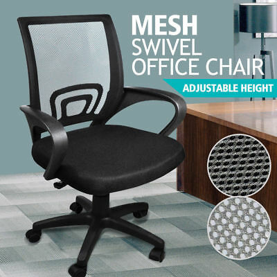 Ergonomic Mesh Computer Office Desk Midback Task Chair Black