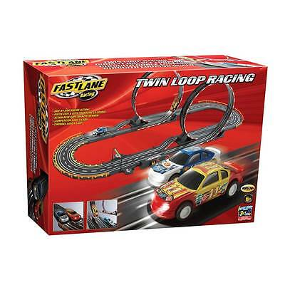 Kids Electric Pro Car Racing Set Racetrack  Loops and 2 Cars & Controllers