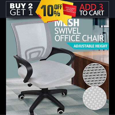 Ergonomic Mesh Computer Office Desk Midback Task Chair Grey