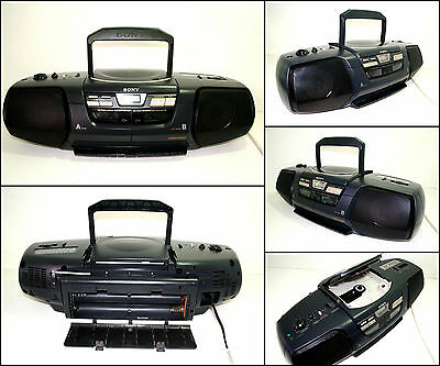 SONY CFD-222 Radio CD Double Cassette Radio Boombox