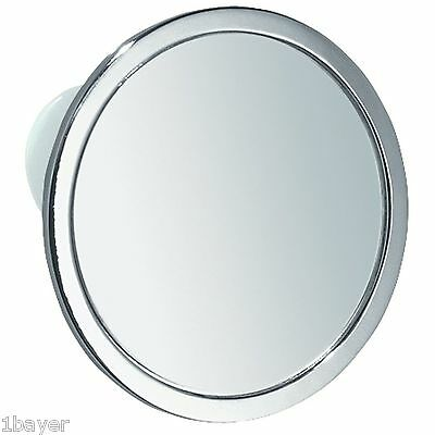 InterDesign Home Bathroom Shower Suction Fog-Free Mirror Chrome Steel Finish