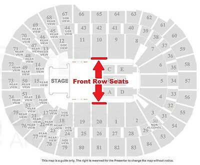 2 x Bruce Springsteen Sydney Tickets Front Row Seats Thurs 9th Feb 2017