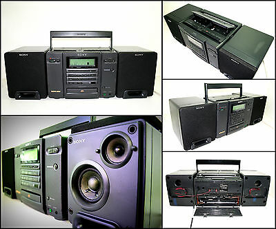 SONY CFD-767 Radio CD Double Cassette Radio Boombox