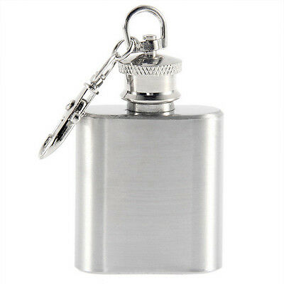 1 OZ Potrable Wine Bottle Flask Mini Flask  Fashion Hip Flask with Keychain