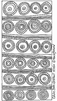 RUG HOOK PAPER CRAFT PATTERN Circles Bars Abstract FOLK ART Prim Karla Gerard
