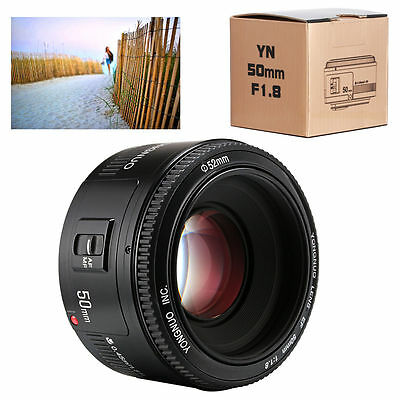 Yongnuo YN 50mm F/1.8 AF/MF Auto Focus Lens for Canon EF Mount EOS Camera LF651