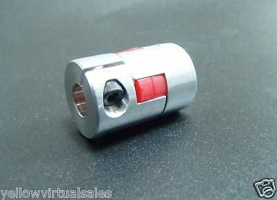 6mm x 6.35mm Flexible Jaw Coupler CNC Shaft Spider Stepper Motor Coupling 1/4""