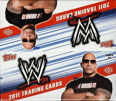 2011 TOPPS WWE WRESTLING SEALED HOBBY BOX (24 PACKS) w/AUTOGRAPH+ RELIC