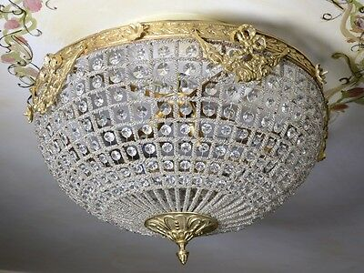Ceiling Light Chandelier Brass Glass Retro Decorative Shabby Baroque Style 50 CM