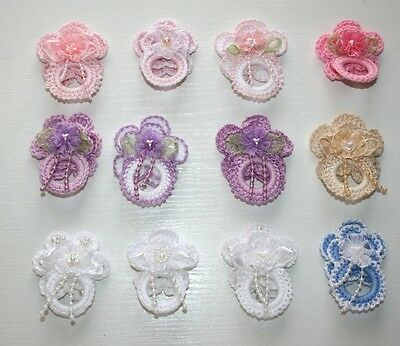 Luxurious crochet dummy pacifier for reborn baby doll