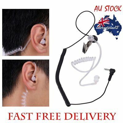 3.5mm Single Listen/Receive Only Covert Acoustic Tube Earpiece Headset E5