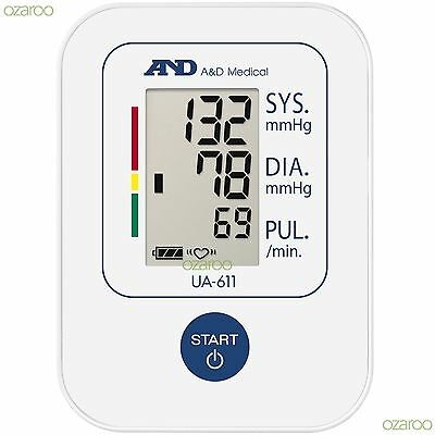 A&D Medical UA-611 Basic Upper Arm Auto Blood Pressure Monitor with SlimFit Cuff