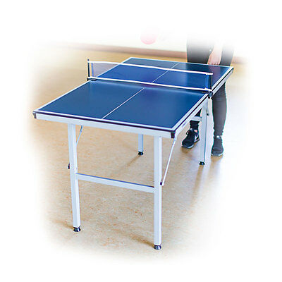 Table Tennis Ping Pong Table Midi 125x75x75 Portable Blue Indoor & Outdoor
