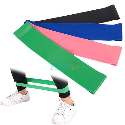 4 Level Strength Resistance Band Loop Power GYM Fitness Exercise Yoga Workout