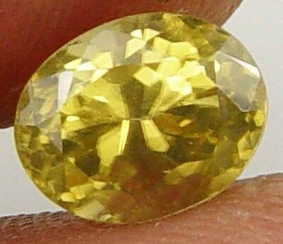 Nice Rich Shimmering Yellow Fire Earth Mined  Zircon Gemstone 3.50Cts 11090135