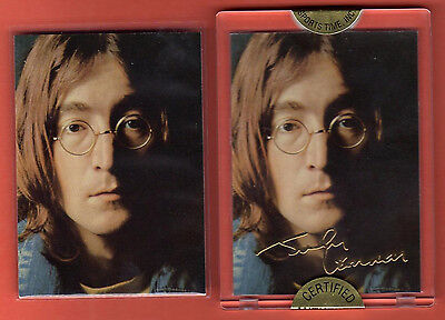 The Beatles / John Lennon / 1996 Gold Signature Card / Factory Sealed & Mint!