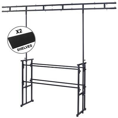 Gorilla GDS-5 4ft Disco DJ Stand Booth Twin-Bar Lighting Table Rig Inc 2 Shelves