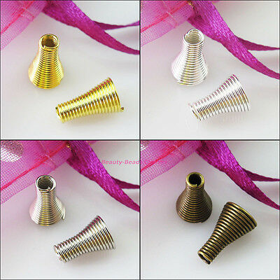 20 New Gold Silver Bronze Plated Connectors Bugle Cone End Bead Caps 7x12mm