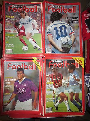 Lot 98 magazines / revues FRANCE FOOTBALL années 90