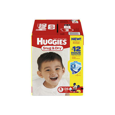 Huggies Snug and Dry Size 6 Baby Disposable Diapers - 136 Count
