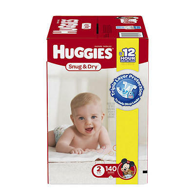 Huggies Snug and Dry Size 2 Baby Disposable Diapers - 140 Count