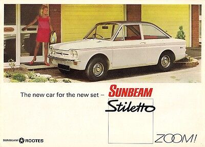 Sunbeam Stiletto 1967-68 UK Market Sales Brochure Hillman Imp