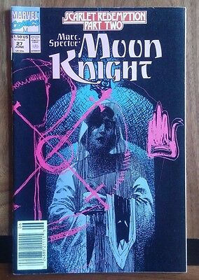 Marc Spector Moon Knight #27 Marvel Comic ~VF Newsstand Sienkiewicz Cover