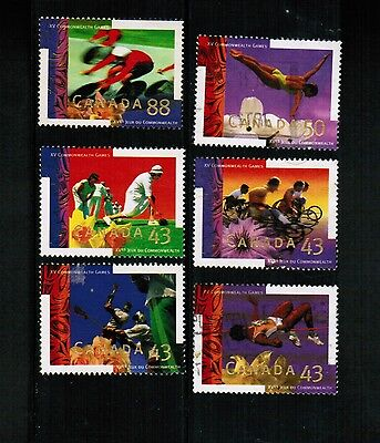 CANADA  1994 COMMONWEALTH GAMES # 1517-22 various see scan used  LOT 451