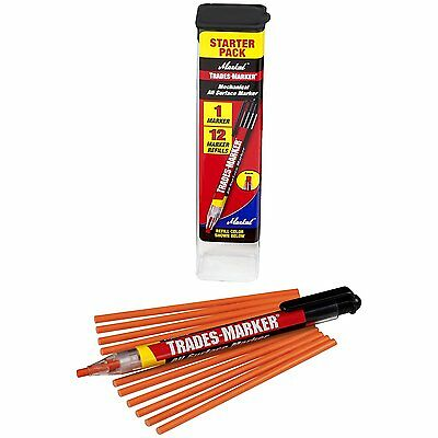 Markal 96137 Trades Marker 1 Holder, 12 Refills, Orange