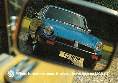 MG MGB GT 1976-77 UK Market Sales Brochure