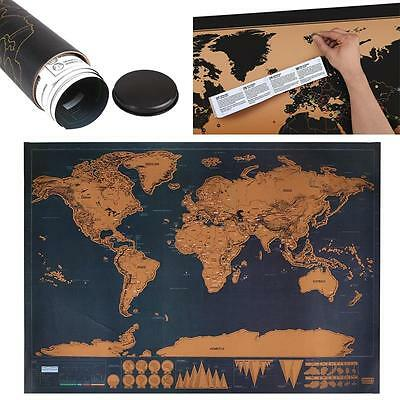 NEW 2016 DIY paper World Poster Gifts Home Decor Durable waterproof hot