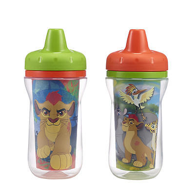 Disney Junior The Lion Guard 2 Pack 9 Ounce  Sippy Cups - Green & Orange